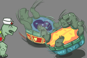Turtles Making the best out of a good situationWIP by Vicipedia