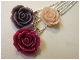 New Rose Pendants by cellsdividing