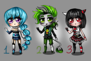 Adoptables Set 1 CLOSED [Points or cash] by Nasuki-Adoptables