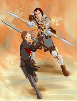 Commission:Sebastian and Hawke by ChristiVivar
