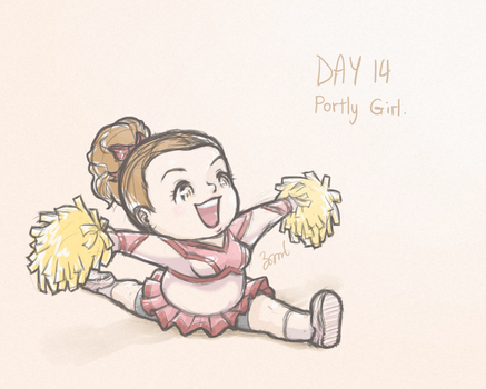 (Day 14) Portly Girl. by bomber9134