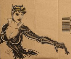 Catwoman Drawing by osx-mkx