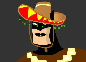 Batman after a trip to Mexico by milozilla