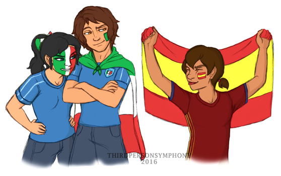 Euro 2016: Spain v. Italy by ThirdPersonSymphony