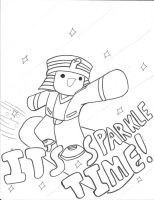 It's Sparkle Time (Lineart) by aquawarrior123