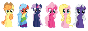 I Accidentally the Ponies by Pika-Robo