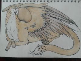 Water Colour : Owl Gryphon by Imagineator