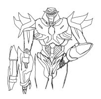 Megatron Rough Sketch by LordStarscream42