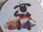 Shaun the sheep cross stitch by Santian69