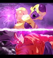 dragon ball z fukkatsu no F - goku vs freezer by SenniN-GL-54