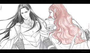 Maglor and Maedhros by akato3