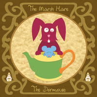 Wonderland Bestiary - Dor Mouse and March Hare by purpledragon42