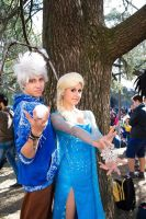 G Jack Frost & Elsa by LordProtoMan