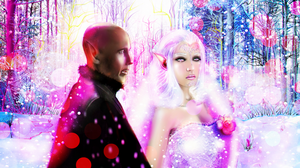 Sanguine Snow \ Solas + Lunale (OC Lavellan) by Almesiva-Moonshadow