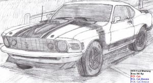 1970 Ford Mustang BOSS 302 by TechieV2
