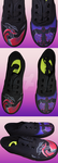 Yveltal Pokemon Hand Painted Shoes by DruidicDesigns
