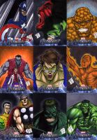 The Avengers Sketch Cards 1 by Foreman by chris-foreman