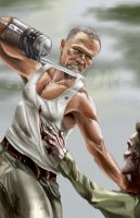 Merle Dixon-by AJ Moore by GudFit