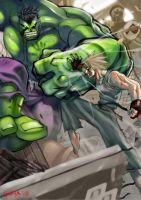 HULK vs Jet by kw3k