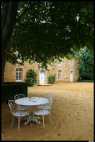 France: White table and chairs by Uttermost