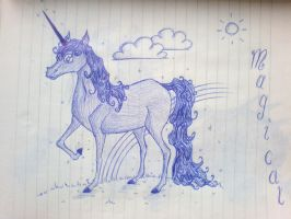 Unicorn Doodle by Abwettar