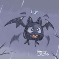 Bat for Drawlloween by Banzchan