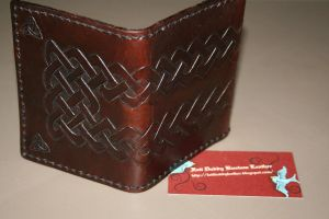 Finished tri-fold Wallet by FattDaddyLeather