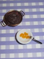 Polymer Clay Chocolate Fondue by Aya-no-Shrink-Ray
