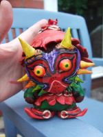 Skull Kid Munny with Majoras Mask by MeowMowRaa
