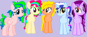 Colorful pony adoptables!(cheap) by cottoncloudyfilly