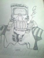 Halo drawing by gbftattoos