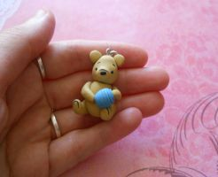 Classic pooh pendant commission by rude-and-reckless