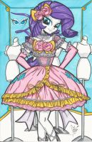 Lolita Rarity Print by PonyGoddess