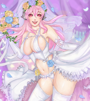 Super Sonico [ wedding ver] by SinfloraX