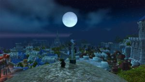 Moonrise over Stormwind by theclumsyninja