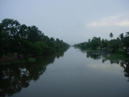 A Canal in Kerala, India by jawzf