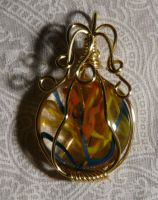 Wire pendant 234 by Kimantha333