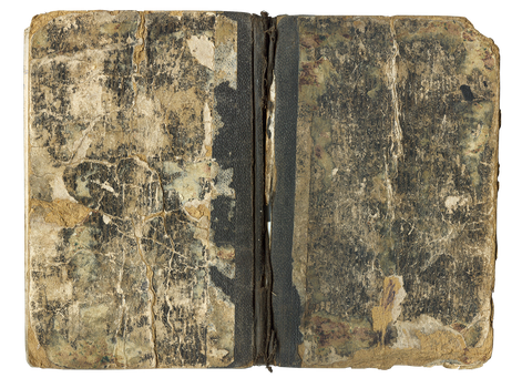 Antique stained book cover II by mercurycode
