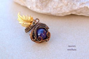 Amethyst wire wrapped vintage ring by IanirasArtifacts