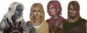 Female companions BG by b1ackImg