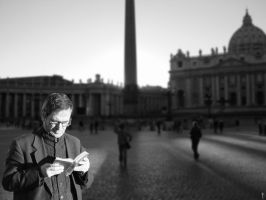 Priest at St Peters Rome by timlori