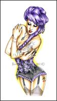 Lilac Pin Up by RossanaCastellino