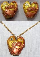 Steampunk heart pendant by sirmagis
