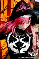 Pink Caddy Hoodie Promo Shot by BleedingStarClothing
