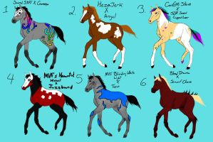 Foals from breeding requests 1 by naomithewolf