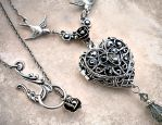 Silver Heart Locket 2 by Aranwen
