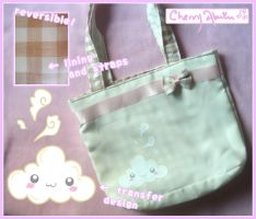Cute Cloud Reversible Bag by CherryAbuku