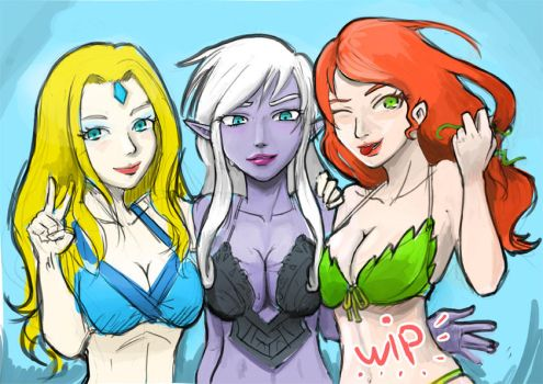 0412: Radiant Girls WIP by Agito666