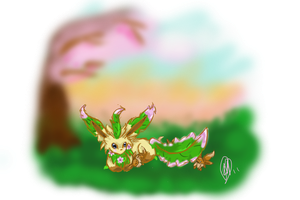 Mommy Leafeon by Mirera