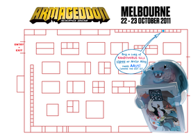 ARMAGEDDON-expo-MELB2011-map by theCHAMBA